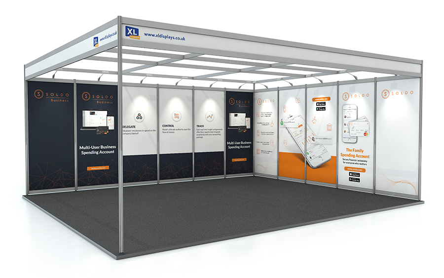 5m x 6m Exhibition Shell Scheme L-Shape PVC Graphics