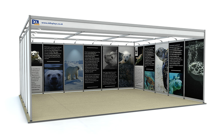 5m x 6m U-Shape Shell Scheme Exhibition Stand Foamex Graphics