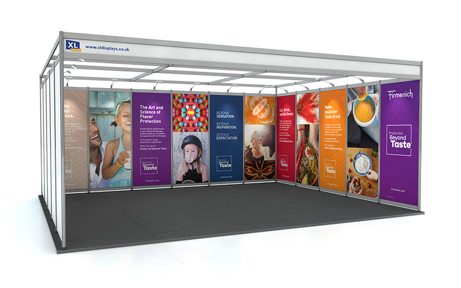 5m x 6m U-Shape Shell Scheme Exhibition Stand PVC Graphics