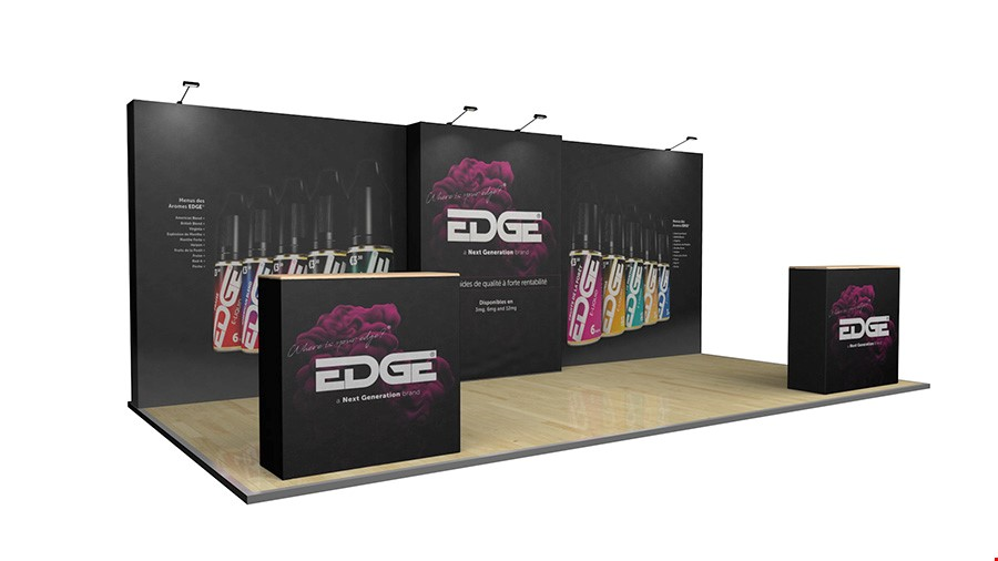 6m Modular Exhibition Stand Back Wall