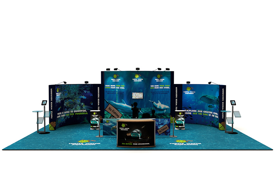 Linked Pop Up Exhibition Stand 6m x 10m