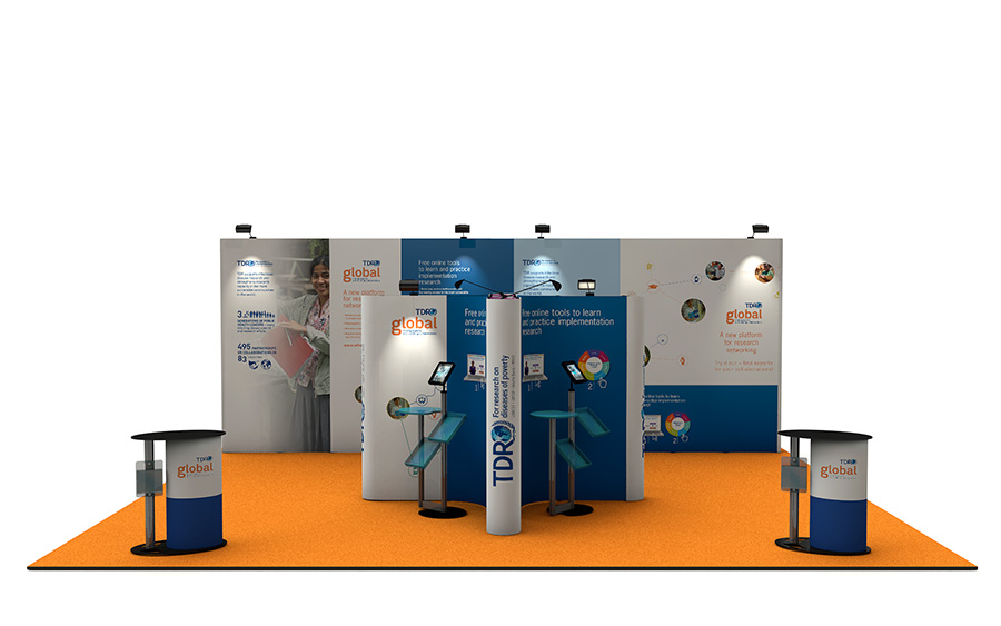 6m x 8m Linked Pop Up Exhibition Stand