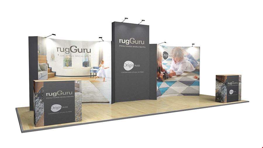 8m XL Jumbo Backwall  Fabric Exhibition Stand