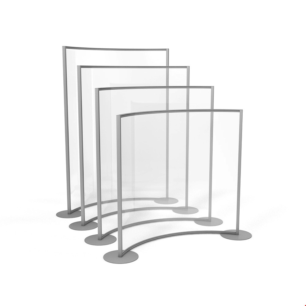 ACHOO<sup>®</sup> Freestanding Curved Perspex Screen