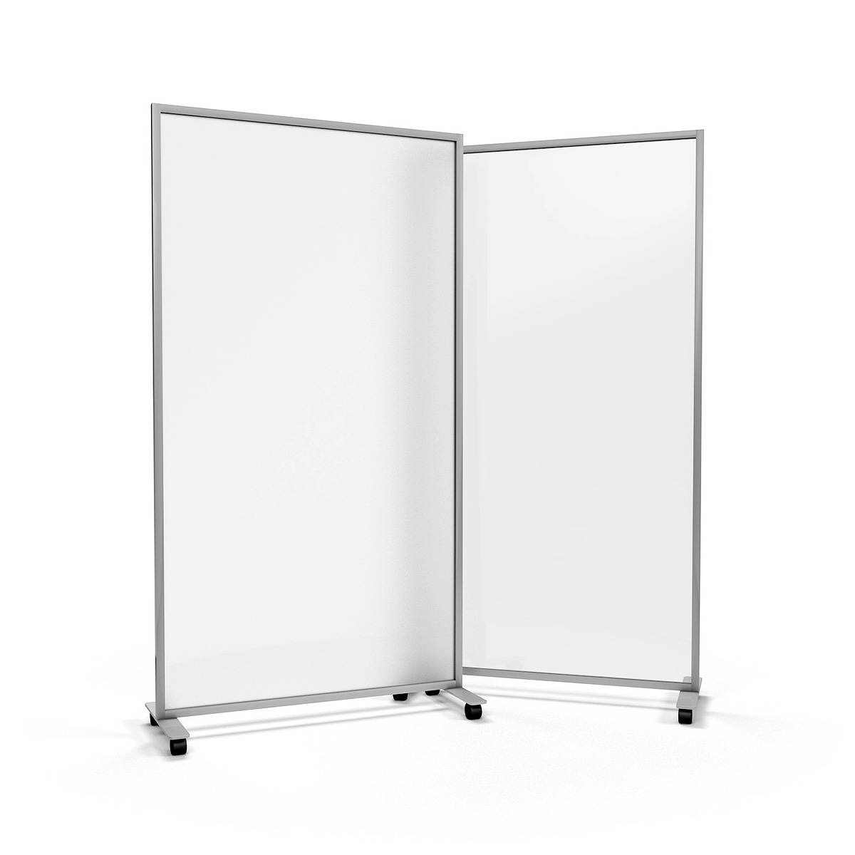 ACHOO<sup>®</sup> Frosted Perspex<sup>®</sup> Glass Office Divider on Wheels