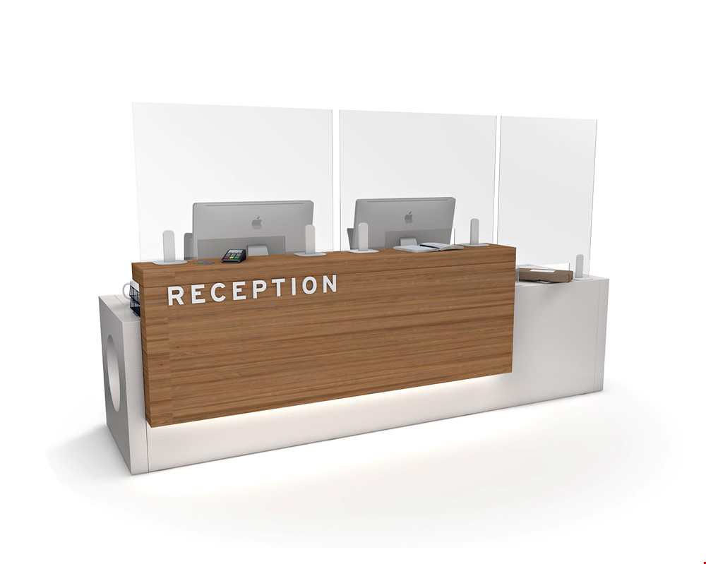 ACHOO<sup>®</sup> Perspex Reception Sneeze Guard Screen