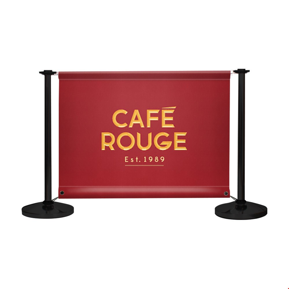 Adfresco<sup>®</sup> Cafe Barrier Kit With 1 Banner