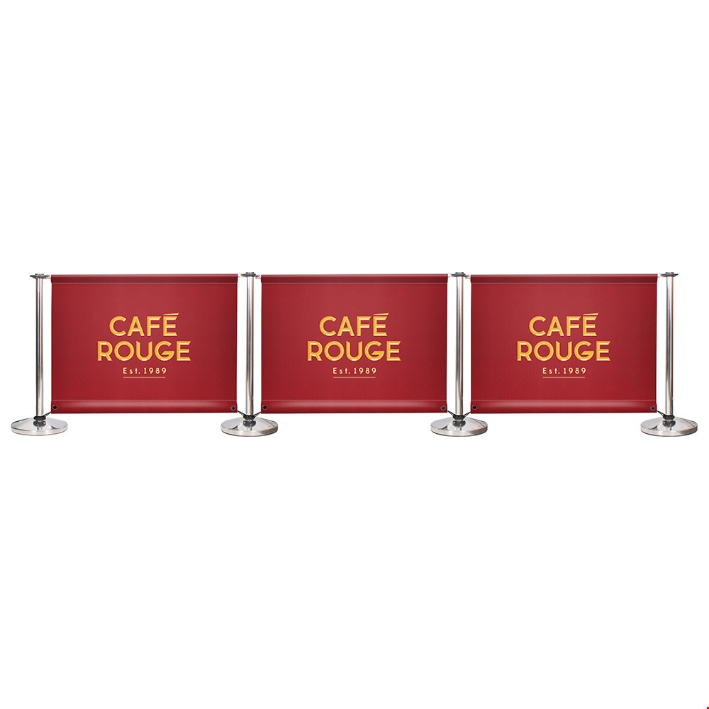 Adfresco<sup>®</sup> Cafe Barrier Kit With 3 Banners