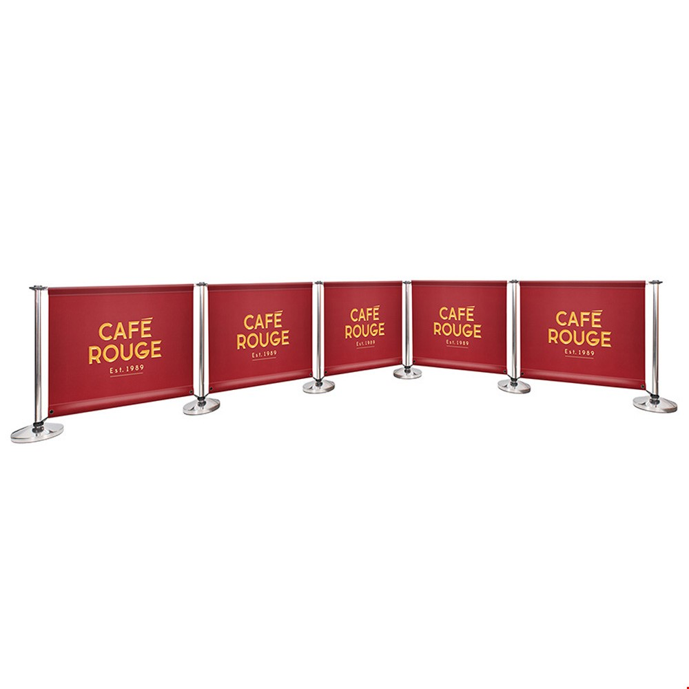 Adfresco<sup>®</sup> Cafe Barrier Kit With 5 Banners