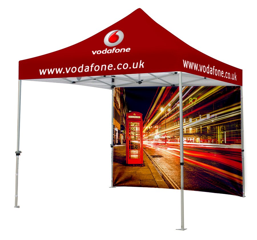 Branded Gazebo with Printed Back Wall