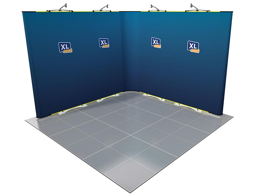 Twist Flexible Display Stand 3m x 3m L-Shaped
