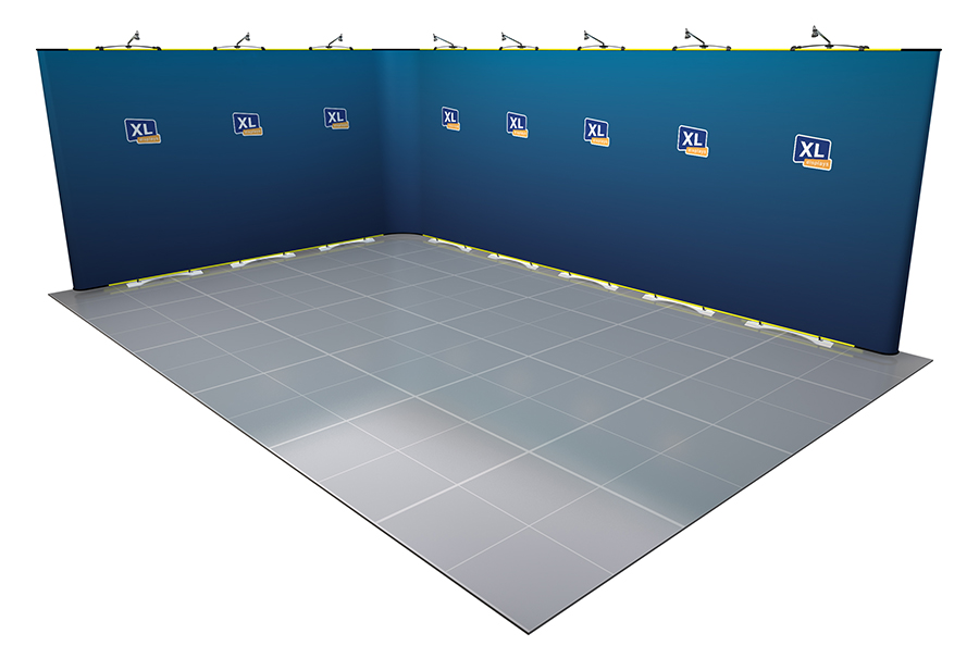 Twist 6m x 4m Open Flexible Exhibition Stand L-Shaped