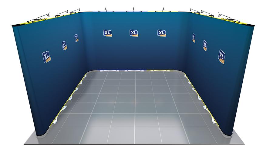 Twist Flexible Display Stand 4m x 4m U-Shaped