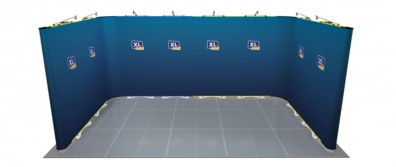 Twist U-Shaped Exhibition Stand 5m x 3m