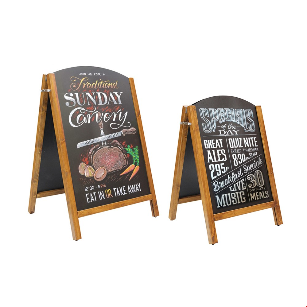 CHALKART Removable Chalkboard Double Sided A-Board Sign