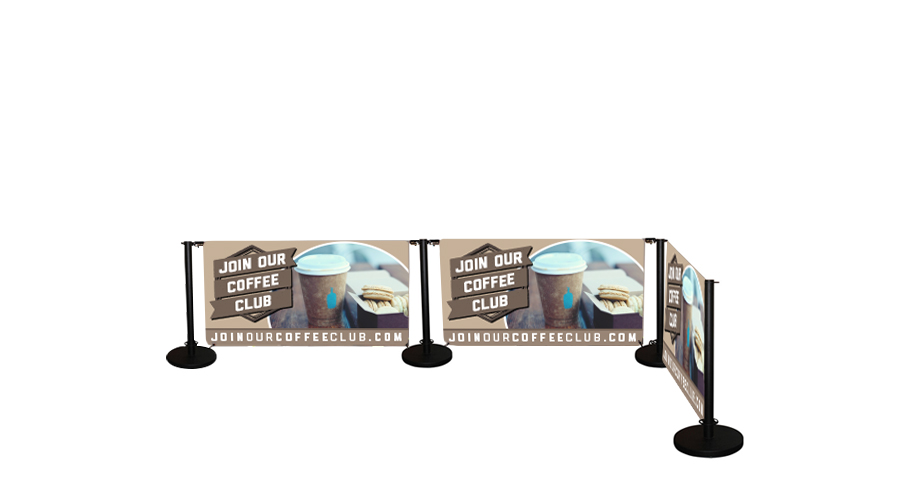 Cafe Banner Standard Printed 3 Banners