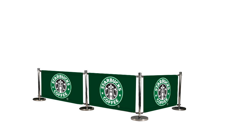 Cafe Barrier System Deluxe 3 Banners