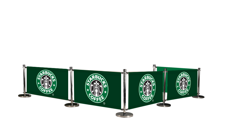 Cafe Barrier System Deluxe 5 Banners