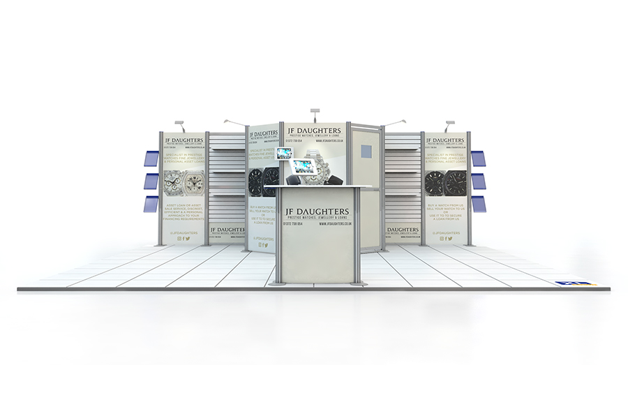 5m x 6m Modular Centro Exhibition Stand
