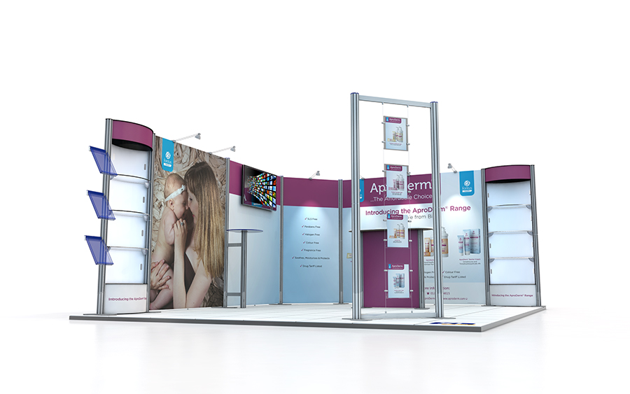 5m x 4m Modular Centro Exhibition Stands