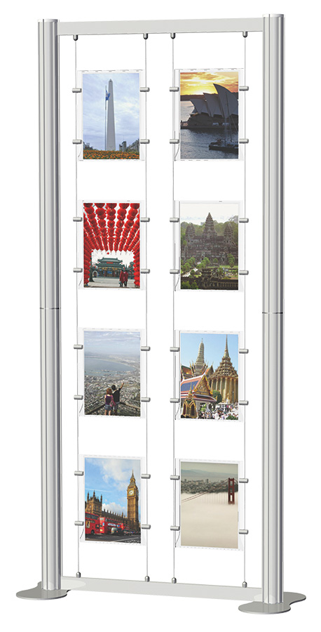 Centro Freestanding Poster Display Kit 2