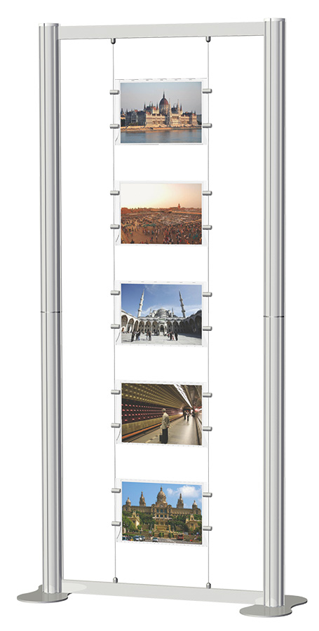 Centro Freestanding Poster Display Kit 3
