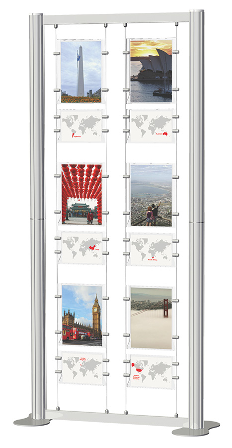 Centro Freestanding Poster Display Kit 6