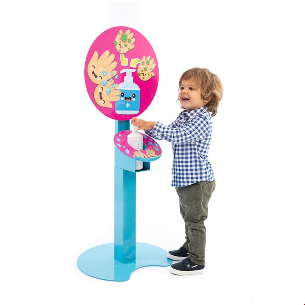 Childrens Height Adjustable Hand Sanitising Stands