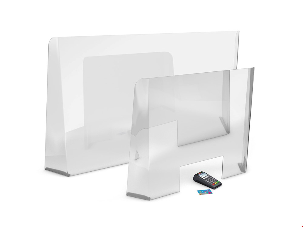 CLARITY PLUS Perspex Sneeze Screen With Cut Out