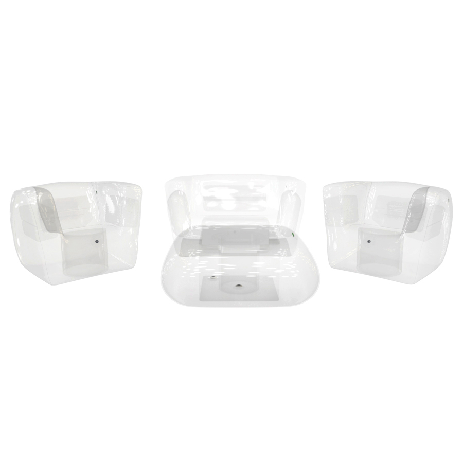 Crystal Clear Inflatable Furniture Set
