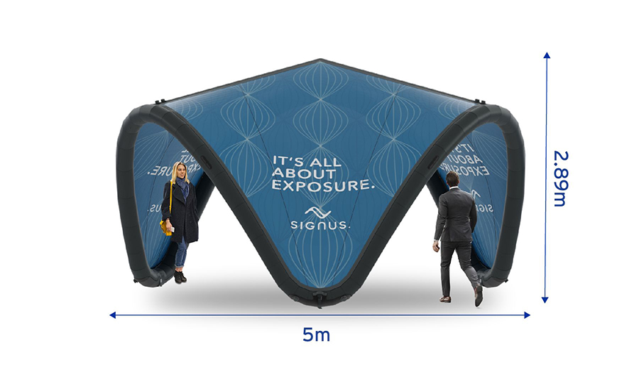 Signus ONE Branded Inflatable Pavilion 5m
