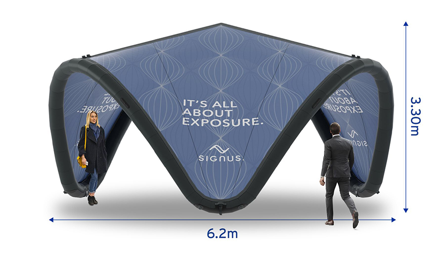 Signus ONE Branded Inflatable Pavilion 6m