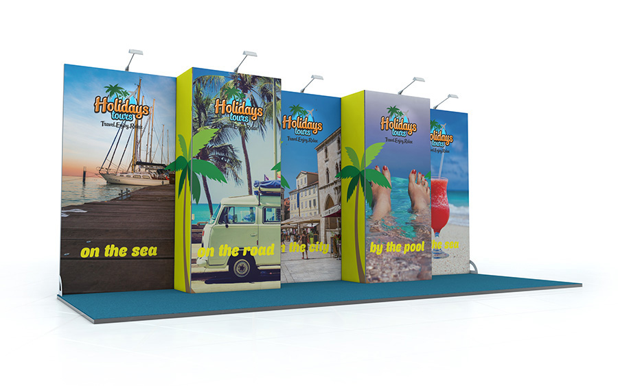 Linear Back Wall Exhibition Stand