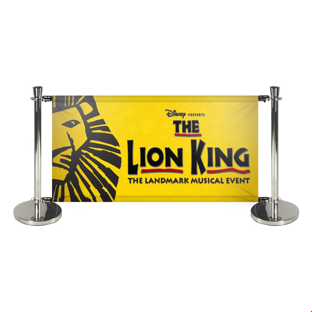 Deluxe Queue Barriers With Printed Banners