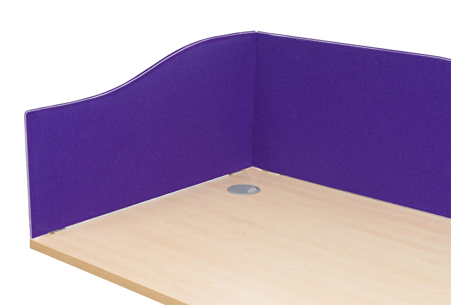 Smarty Fabric Wave Office Desk Screen