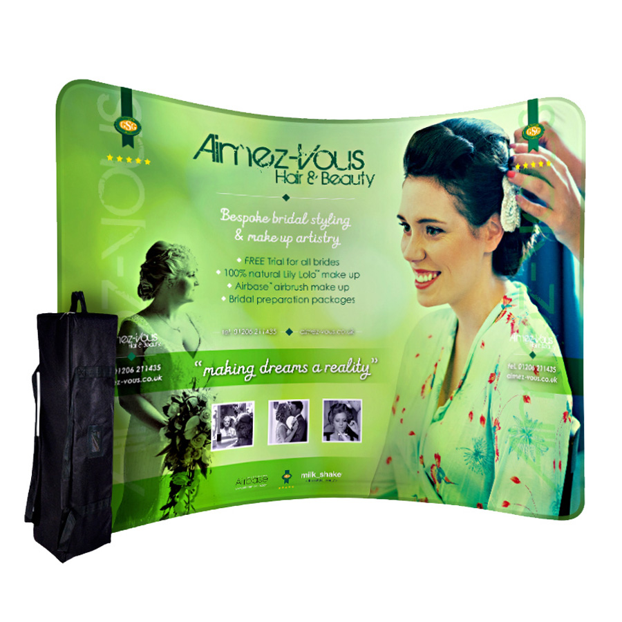 Formulate Curve Fabric Display Stand