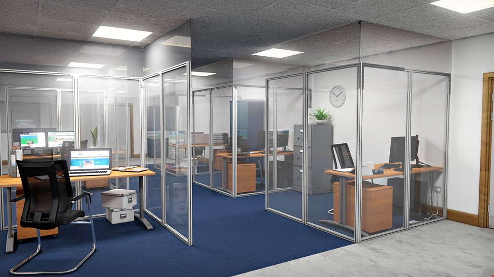 Office Partitions Floor to Ceiling