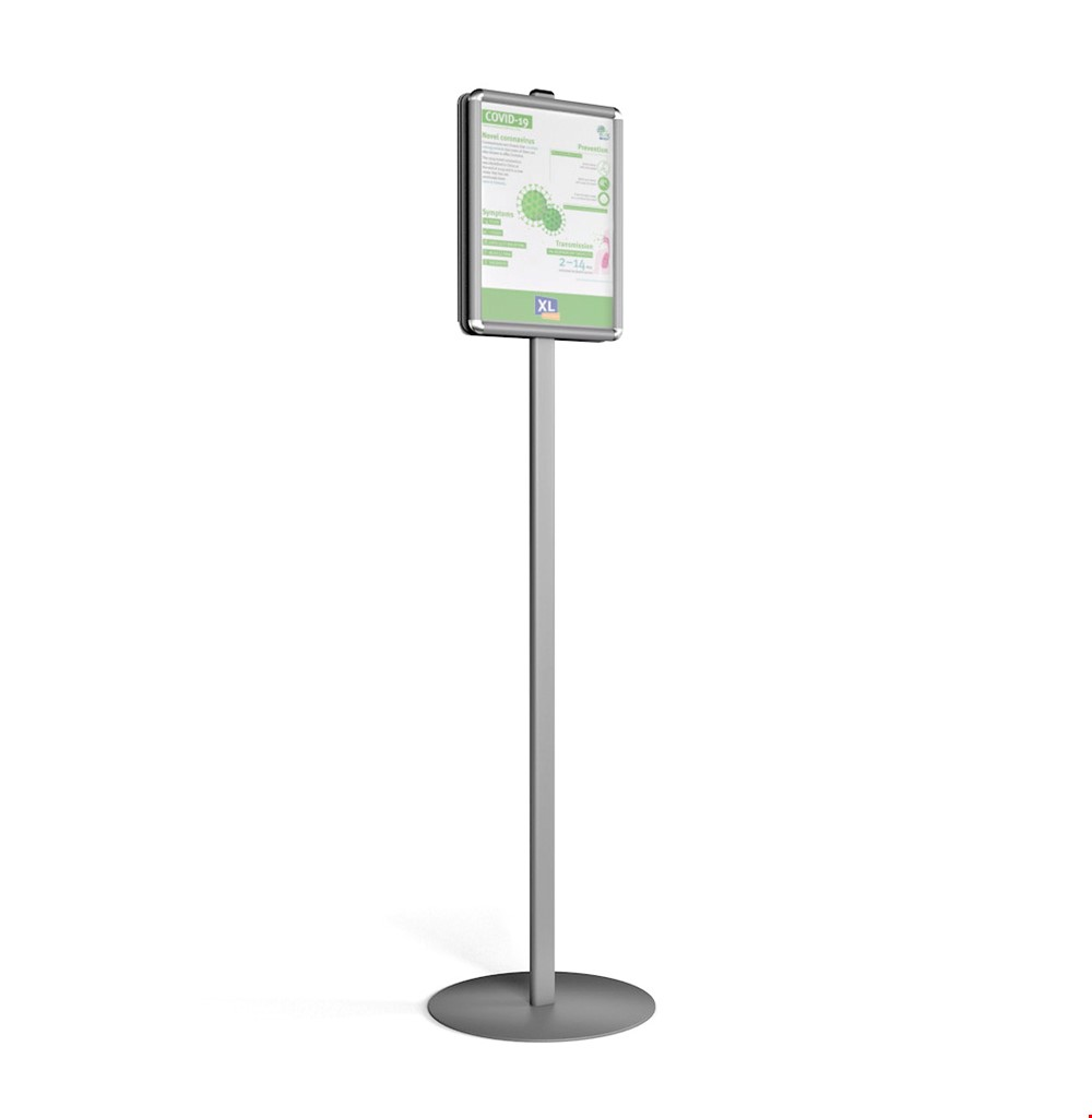 Free Standing COVID19 Poster Display Stand Double Sided