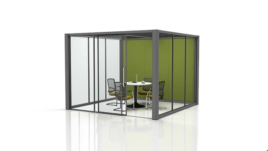 3m x 3m Glass Partition Office Pods