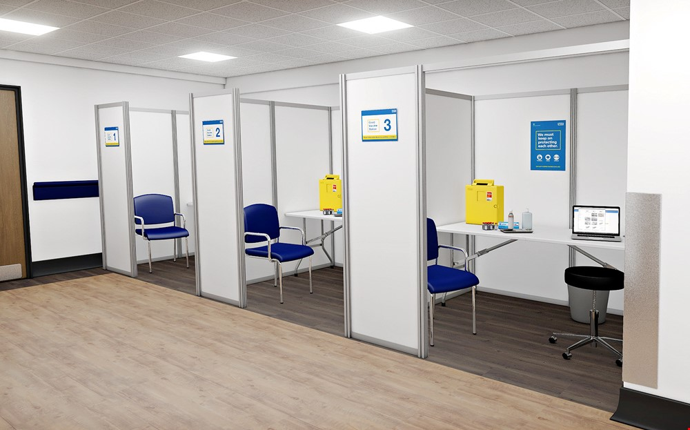Modular COVID-19 Vaccination Booths