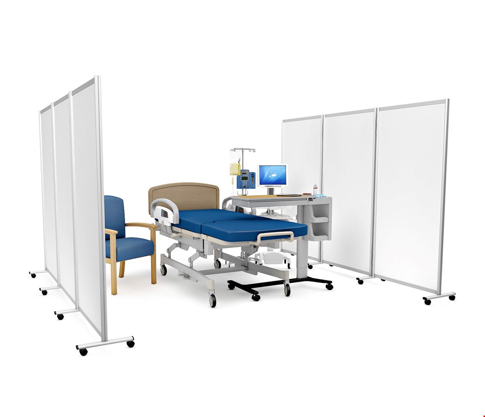 GUARDIAN DIGNITY<sup>®</sup> Mobile Medical Screens With Wheels