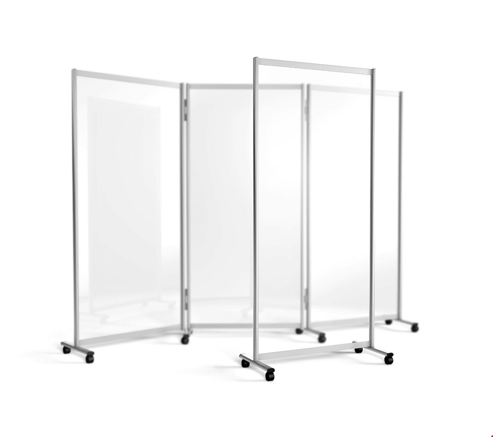 GUARDIAN Mobile Divider Acrylic Partition Screen on Wheels