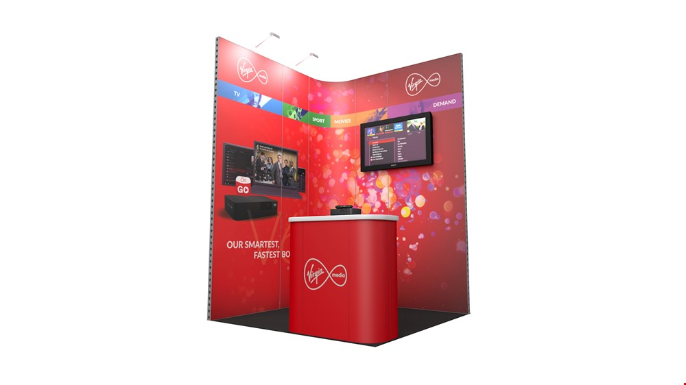 Integra<sup>®</sup> Exhibition Stand 2m x 2m Corner Kit 1 - To Hire