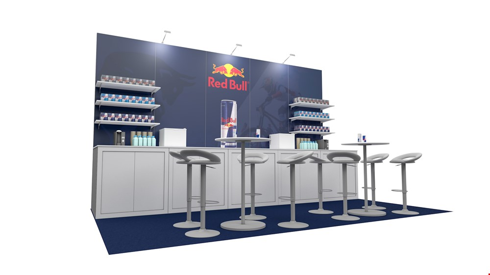 Integra<sup>®</sup> Exhibition Stand 5m x 3m Backwall Kit 41 - To Hire
