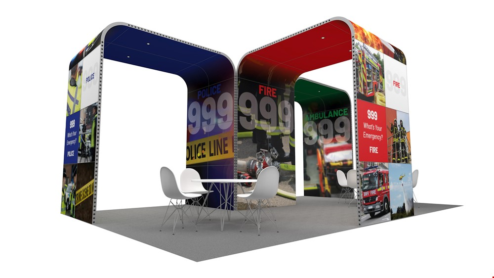 Integra<sup>®</sup> Exhibition Stand 8m x 5m Island Kit 33 - To Hire
