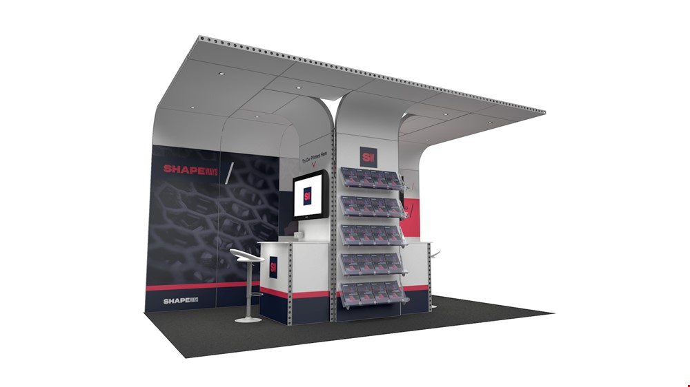 Integra<sup>®</sup> Exhibition Stand 5m x 3m Backdrop Kit 17 - To Hire