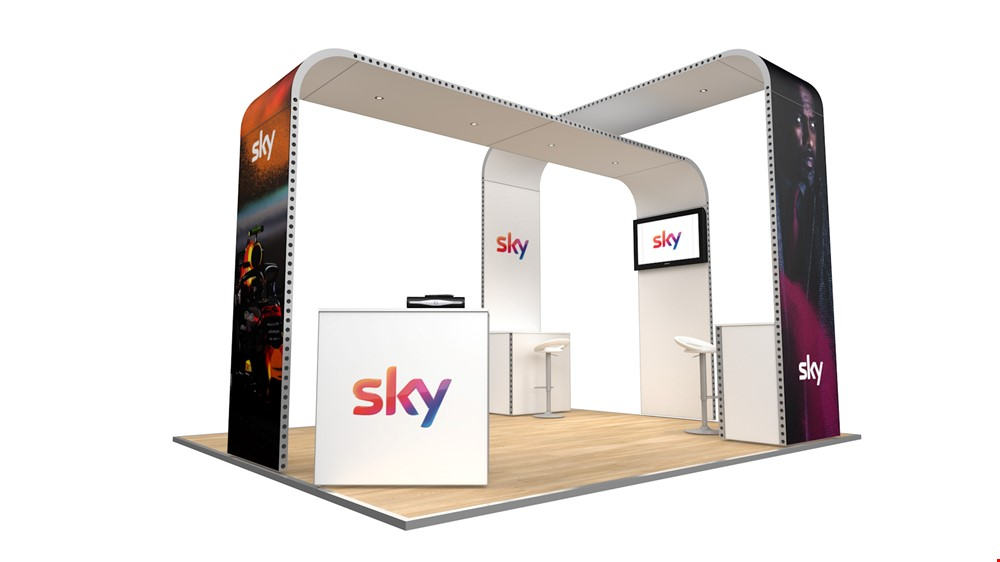 Integra<sup>®</sup> Exhibition Stand 5m x 4m Island Kit 18 - To Hire