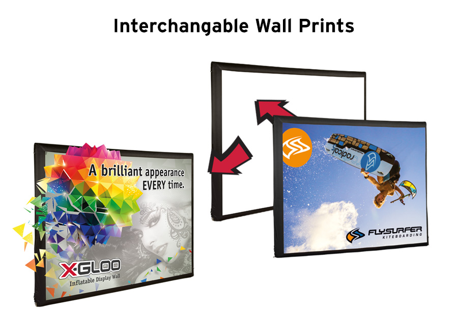 X-Gloo Inflatable Display Wall Replacement Graphic