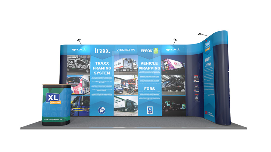 5m x 2m L-Shaped Pop Up Exhibition Backwall