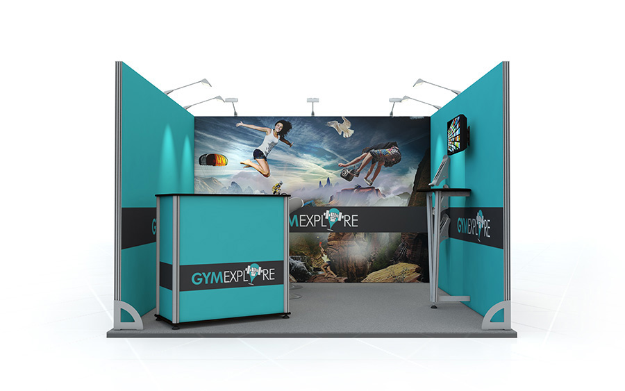 Linear Exhibition Stand 3m x 3m U-Shape